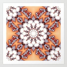 Fractal Chamomile Art Print