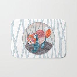 """ Red Panda "" by Teresa Ball ( TBall ) Bath Mat"