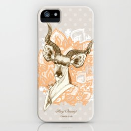 Hey! Beauty! - Greater Kudu - yellow iPhone Case