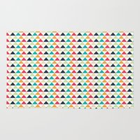 triangle Area & Throw Rugs featuring triangle by Sébastien BOUVIER