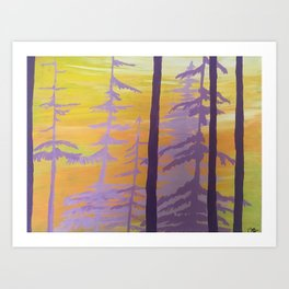Majestic trees Art Print