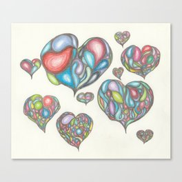 The Colors of Your Heart Canvas Print