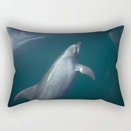 Dolphin and the blue sky Rectangular Pillow