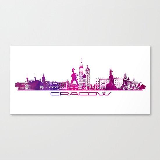 Cracow skyline city purple by jbjart