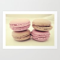 macaroons Art Prints featuring macaroons by  Alexia Miles photography