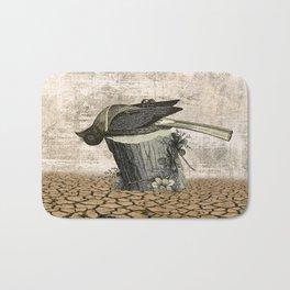 BLACK BIRD Halloween Illustration Bath Mat