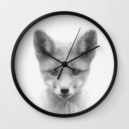 Baby Fox Wall Clock
