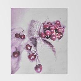 Cherry Harvest Throw Blanket
