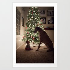Christmas Friends Art Print