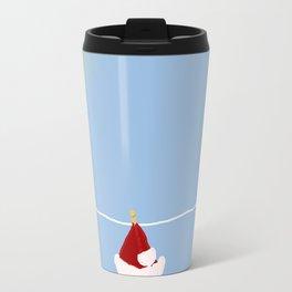 santa hat on clothesline Travel Mug