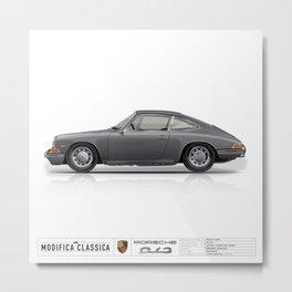 1965 Porsche 912 Slate Grey Single View Metal Print