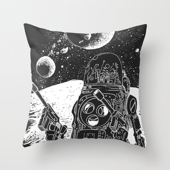 Duke of the Moon Throw Pillow