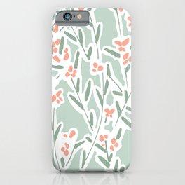 Mirbelia Twigs White iPhone Case