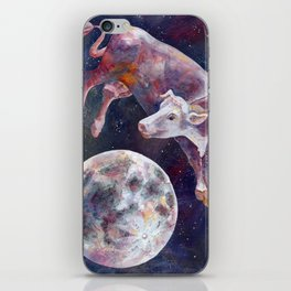 The Cow Jumped Over The Moon - III iPhone Skin