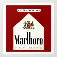 cigarettes Art Prints featuring cigarettes by Azrai Danial