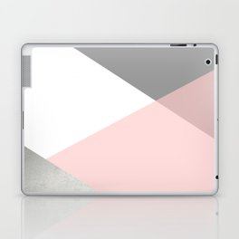 Geometrics - grey blush silver Laptop & iPad Skin
