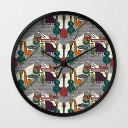 vintage ragtime chevron Wall Clock