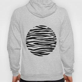 Zebra StripesPattern Black And White Hoody