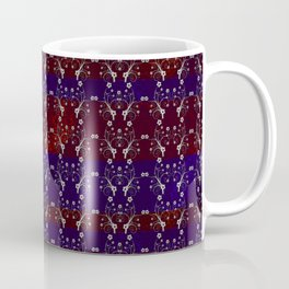 Foil Flower in Red and Blue Coffee Mug