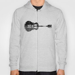 Acoustic Guitar Forest Nature Reflection Musician Hoody