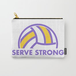 serve strong - volleyball quote Carry-All Pouch