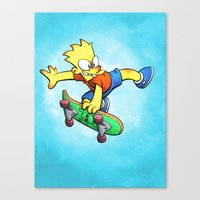 simpson Canvas Prints featuring Bart Simpson by Joe McGro