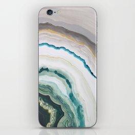 Green Agate #1 iPhone Skin