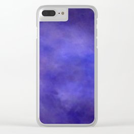 Abstract Watercolor Blend 2 Deep Purple and Blue Clear iPhone Case
