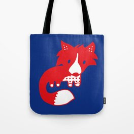 Midnight fox cub Tote Bag