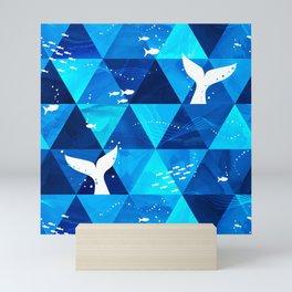 Blue Whale Singing Mini Art Print
