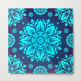 PATTERN ART04-Blue Metal Print