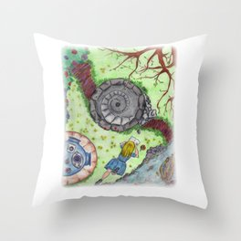 Alice Out of Wonderland Throw Pillow