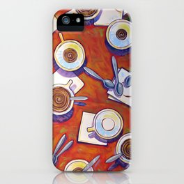 The Get Together ... Kitchen Coffee Cup Art iPhone Case