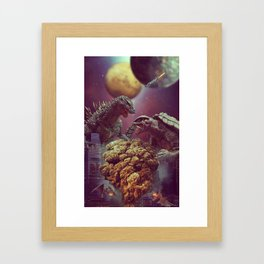 Godzilla VS Gamora  Framed Art Print