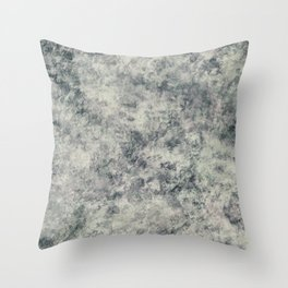Modern Abstract Textured Grey Lavender Sage Green Throw Pillow