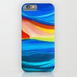 Coastal Sunrise landscape painting by Pierluigi Bossi iPhone Case