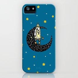 Spaceship Karen and moon iPhone Case