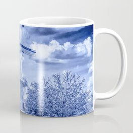 Delft Blue Dutch Windmill Coffee Mug