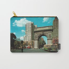 Washington Square Park in Greenwich Village - New York - 1950's - Washington Arch - Fifth Avenue Carry-All Pouch