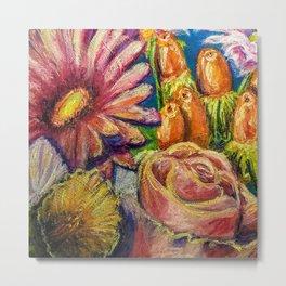 Floral Pastel Painting Metal Print
