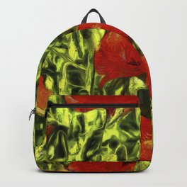 Poppys Van Goth Oil Pastel Art Backpack