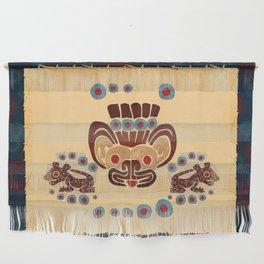 Mayan Baby Jaguar Folk Art Textile Wall Hanging