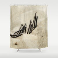 dune Shower Curtains featuring Dune by Mario Sa