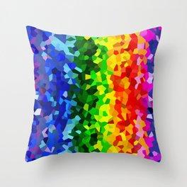 Rainbow Moon Love Throw Pillow