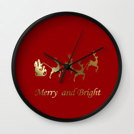 Merry and Bright Night Wall Clock