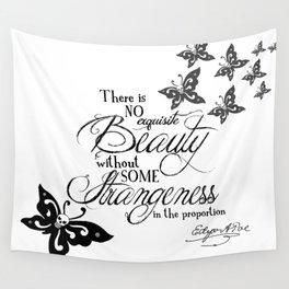 'Strange Skullerflies' -  Quotes - Edgar Allan Poe Wall Tapestry