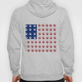 American flag made of paw prints Hoody