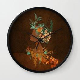 Mujer floral Wall Clock
