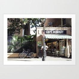 New Orleans Cafe Beignet Art Print