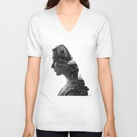 berlin V-neck T-shirts featuring Berlin by AnetaIvanova